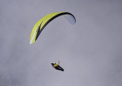 skywalk SPICE paraglider lime green lightweight