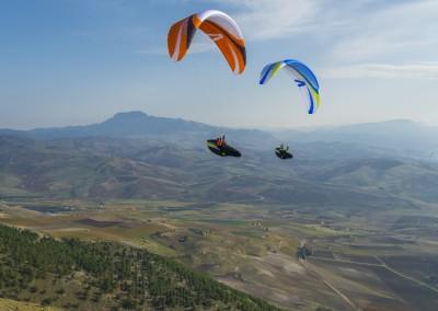 skywalk CAYENNE5 orange weiß paraglider