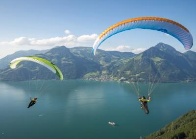 skywalk ARRIBA3 grün blau paraglider lightweight