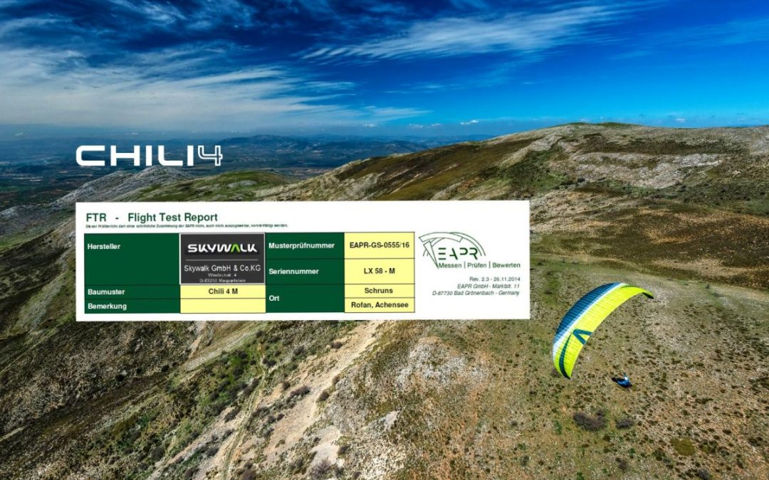 CHILI4 Flight test reports online