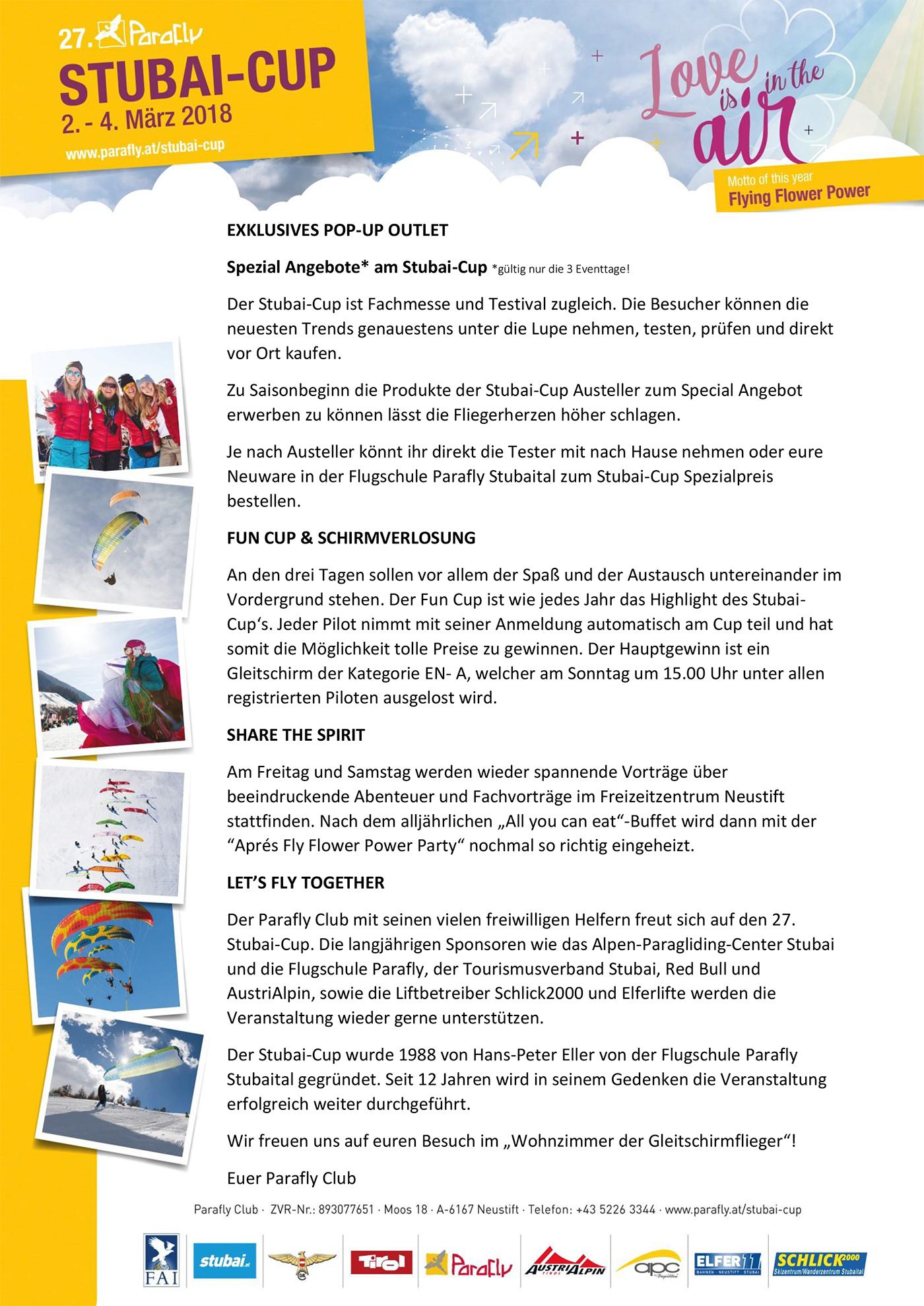 skywalk paragliders - STUBAI CUP 2018