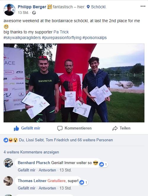 Philipp Berger Facebook Post