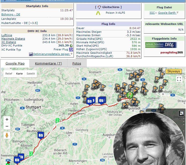 Teampilot Uli Straßer – 243.6 km im Deutschen Flachland