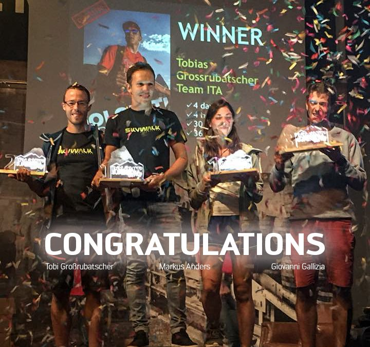 Dolomiti Superfly 2018 – skywalk triple podium