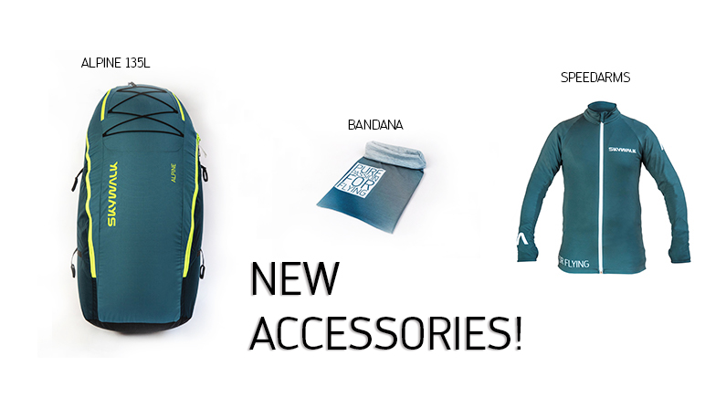 New accessories – BANDANA, ALPINE 135 L, SPEEDARMS