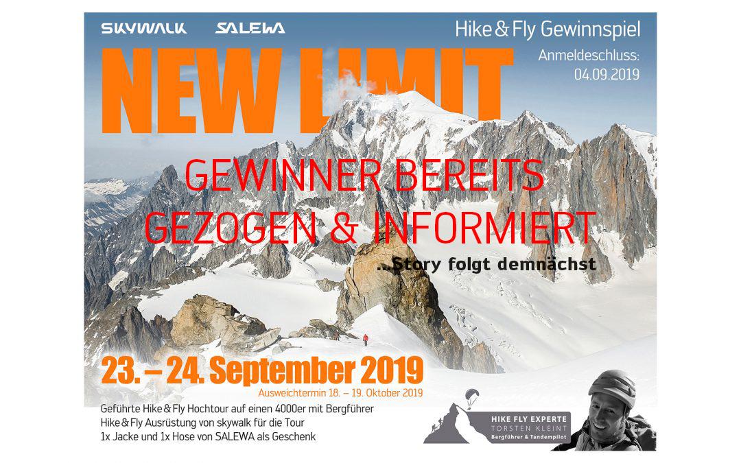 """""""NEW LIMIT"""" – Gewinnspiel Hike&Fly 4000er Hochtour"""