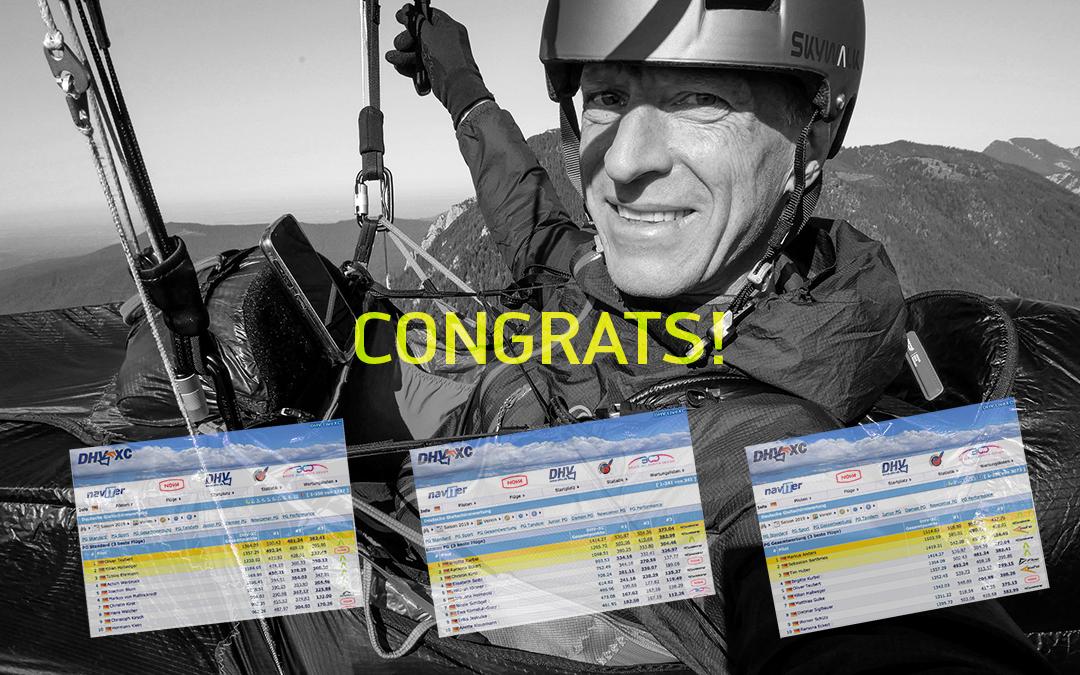 skywalk Piloten dominieren die DHV-XC Wertung 2019!