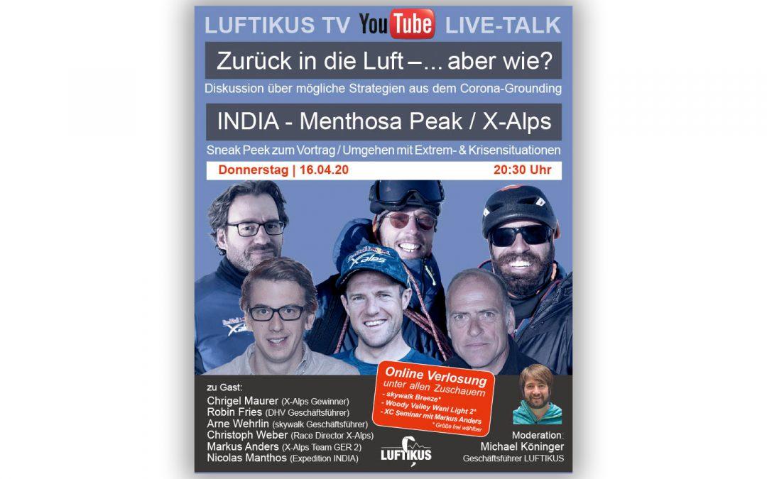 "YouTube Live-Talk & Sneak Peek zum Vortrag ""I N D I A"" – Menthosa Peak"""