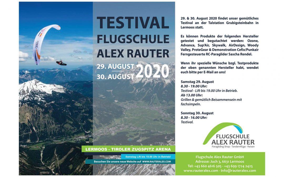 Testival Flugschule Alex Rauter – 29. & 30. August
