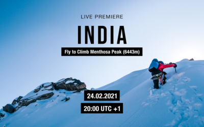 """Live Premiere """"INDIA – Fly to climb Menthosa Peak"""""""