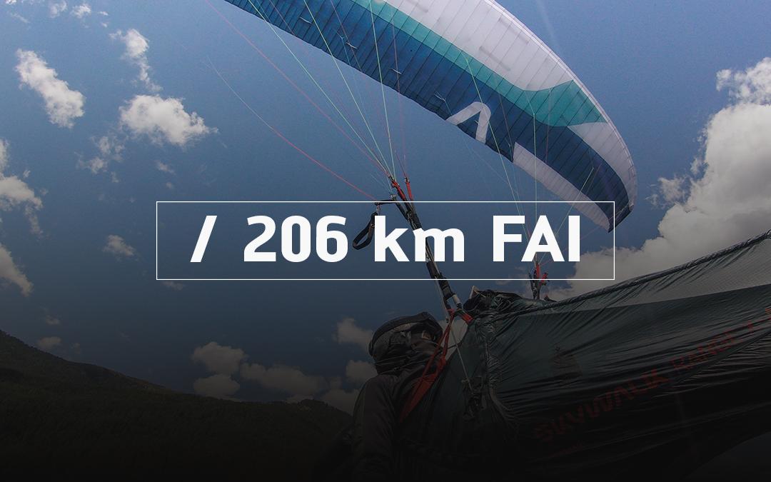 Hans Walcher – 206 km FAI with CHILI5
